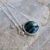 AZURITE 122 Silver necklace